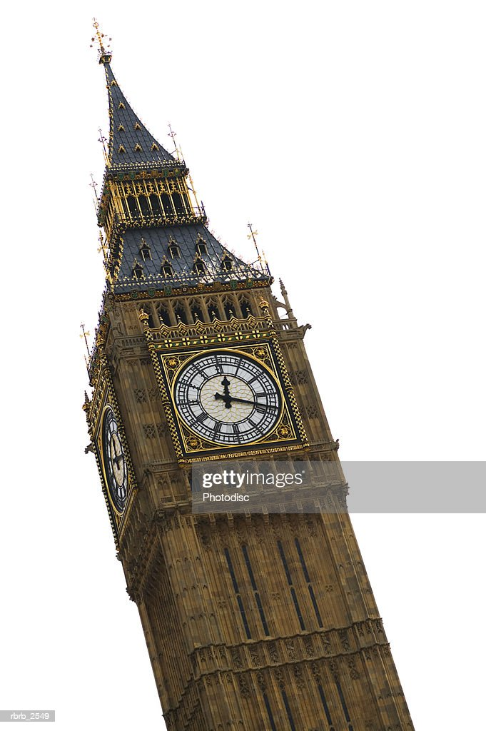 travel shot of the big ben clock tower in london england : Foto de stock
