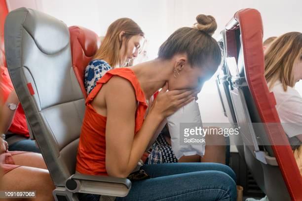 reisziekte - angst stockfoto's en -beelden