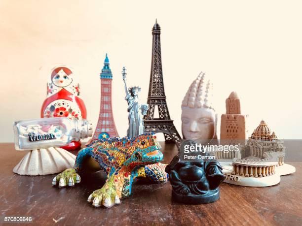 Travel souvenirs landscape