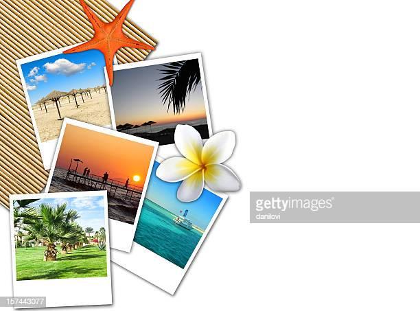 Travel theme collage