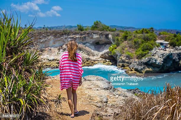 Travel to Nusa Lembongan and Nusa Ceningan islands. Indonesia.