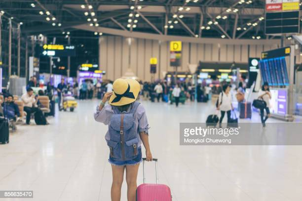 traveler concept - airport terminal stock photos and pictures