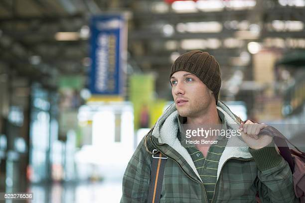 Traveler in airport