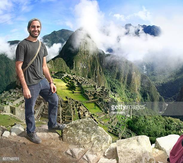 Traveler in Machu Picchu, Peru