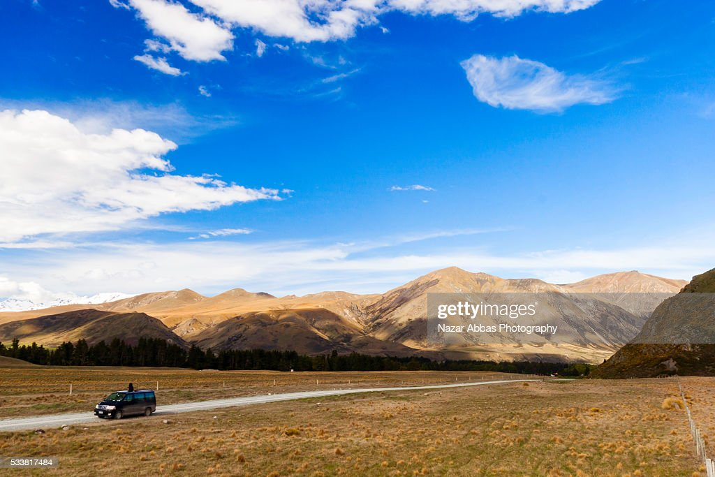 Traveler In New Zealand. : Foto stock