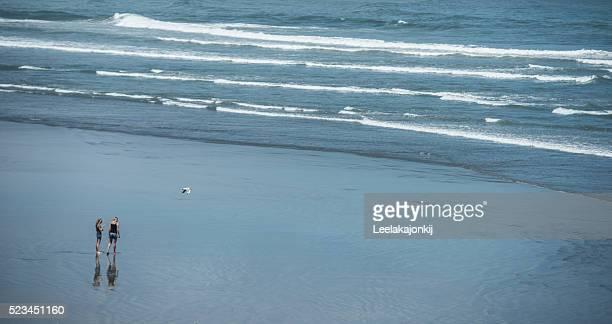 Traveler in West Coast New Zealand, South island