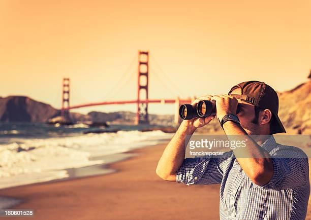 Traveler Looking forward on San Francisco