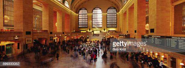 Travelers in Grand Central Terminal