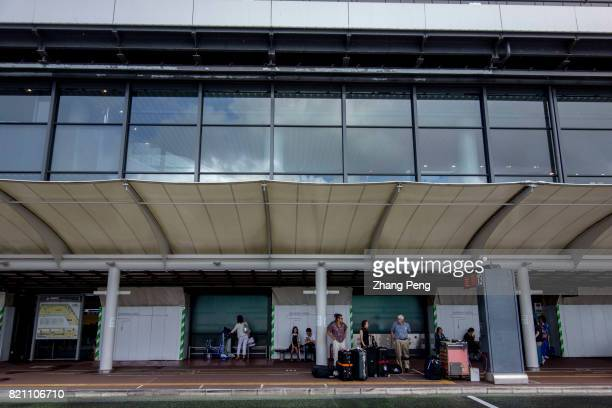 Travelers landed off at the arrival area of the Narita International Airport Narita International Airport established in 1978 located in the Kanto...