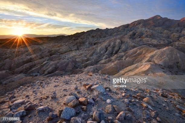 Travelers Peak at Sunset, Anza-Borrego Desert State Park, California, America, USA