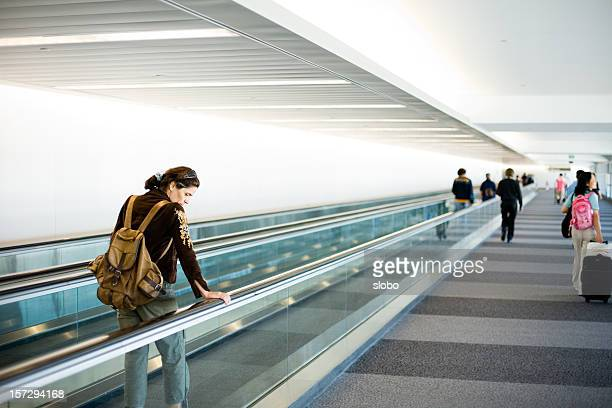 travelers - pedestrian walkway stock pictures, royalty-free photos & images