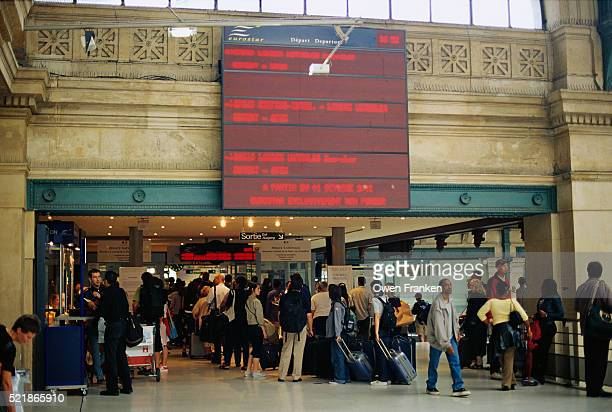 Travelers Queuing at Gare du Nord Station