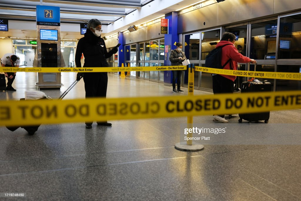 JFK Airport Usage Dwindles During Coronavirus Outbreak : News Photo