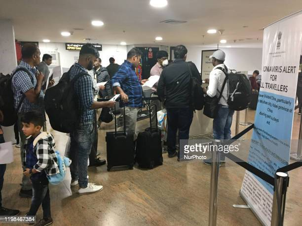 Travelers submit declarations stating they have not recently traveled to China and that they are not experiencing any symptoms of the Wuhan...