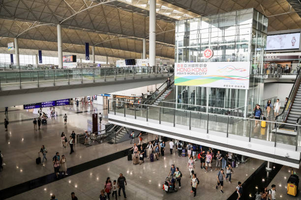 CHN: Operations At Hong Kong International Airport As Protest Injunction Extended