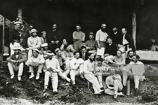1865 The cricket pavilion at Simla with the Sunday Picnic cricket club pictured at the ground