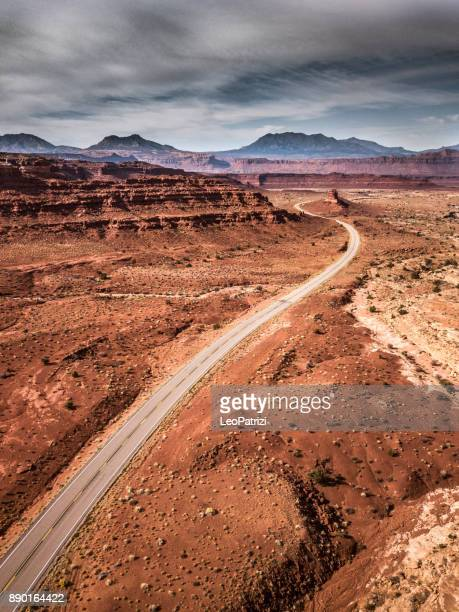 traveling along utah canyons - road trip in the western of the united states - utah stock photos and pictures