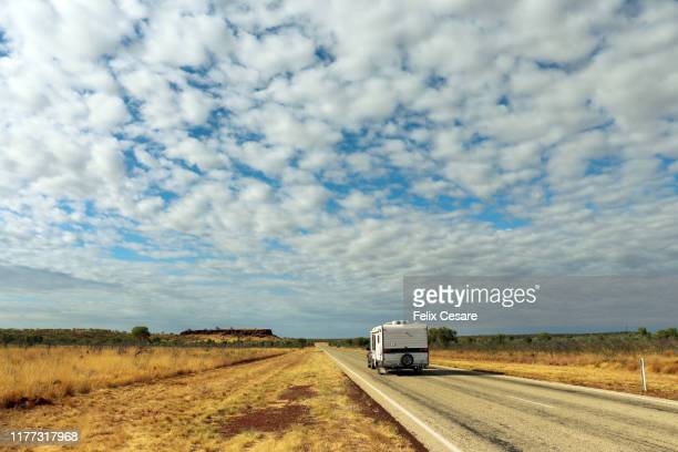 traveling around the australian outback roads - south australia stock pictures, royalty-free photos & images