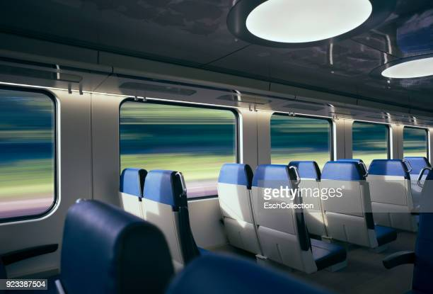Traveling at high speed by modern intercity train