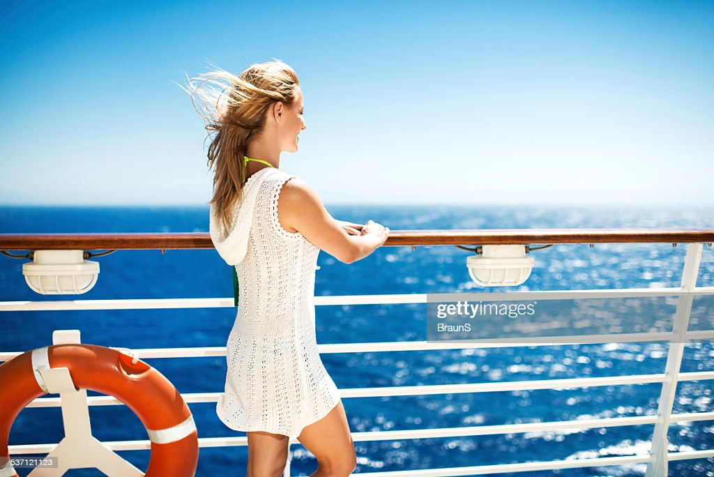 Traveling on a cruise ship. : Stock Photo