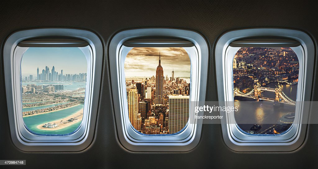 traveling the world with an airplane : Stock Photo
