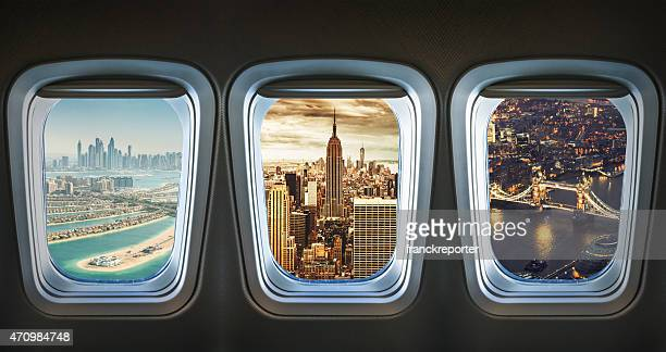 traveling the world with an airplane - aircraft stock photos and pictures