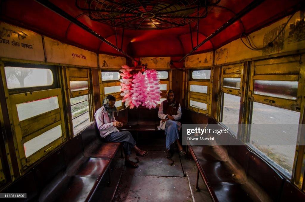 Traveling wit tram at Kolkata : Stock Photo