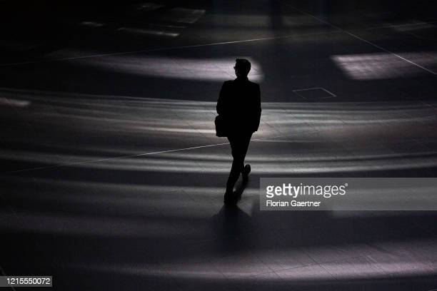 Traveller is pictured at the main train station on May 27, 2020 in Berlin, Germany.