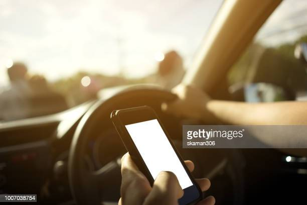 traveller use smartphone and nevigate route for start journey - transportation occupation stock pictures, royalty-free photos & images
