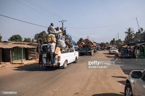 Travellers are forced to turn back on National Road 1 due to clashes that took place 25 kilometers ahead on the road between armed groups and the...