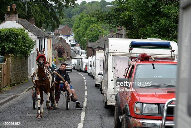 Travellers arrive for the Appleby Horse Fair on June 5 2014 in Appleby England The Appleby Horse Fair has existed under the protection of a charter...