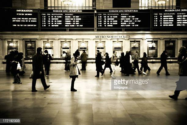 travellers - grand central station stock photos and pictures