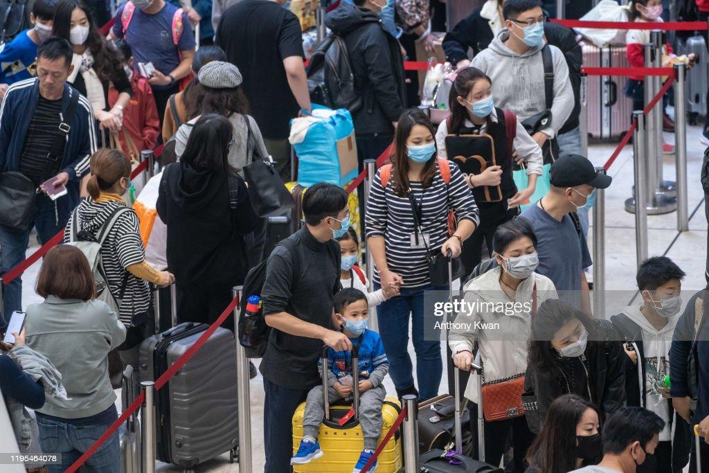 Deadly Wuhan Coronavirus Spreads To Hong Kong : News Photo