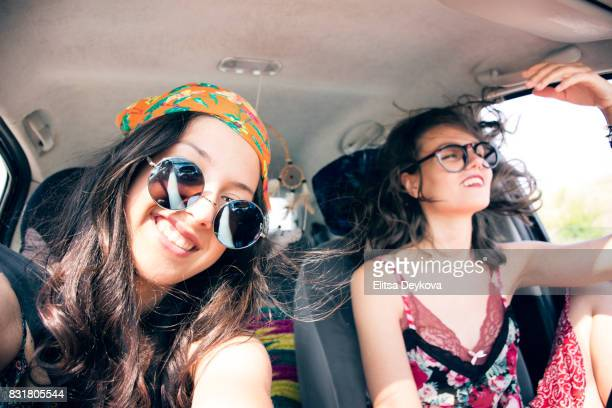 Travelling in car
