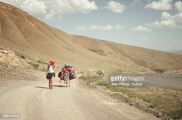Travelling in central Asia with a donkey