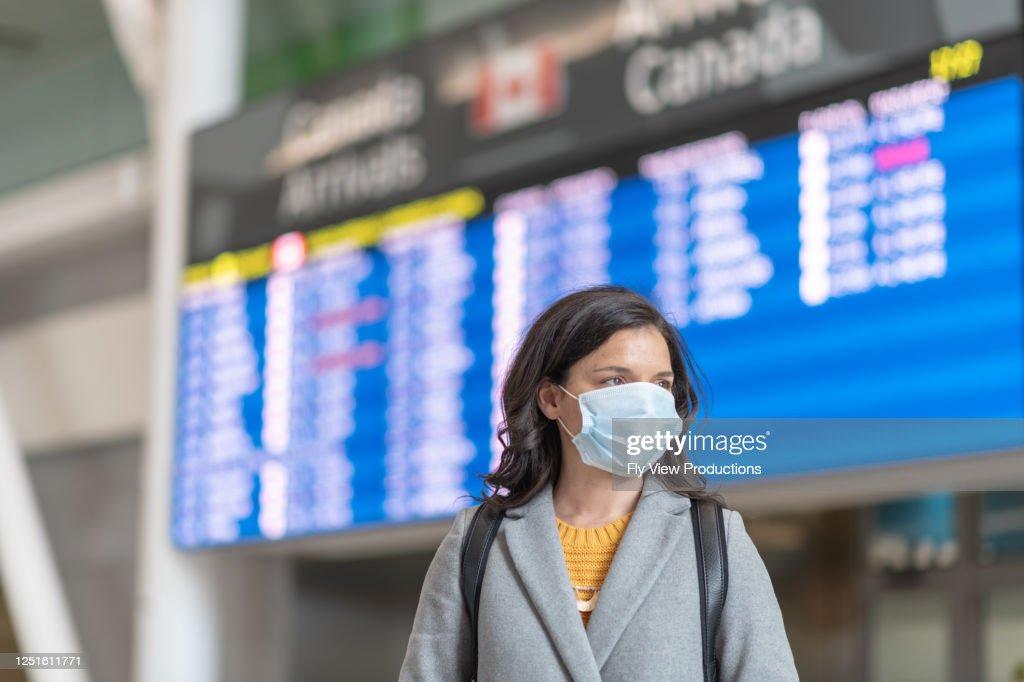 Reisverboden tijdens de pandemie : Stockfoto