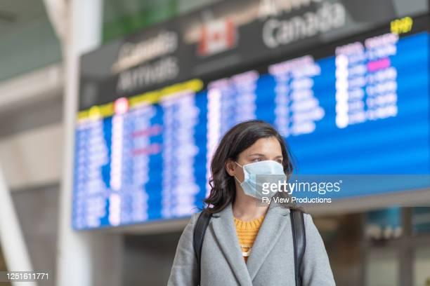 travels bans during the pandemic - canada stock pictures, royalty-free photos & images