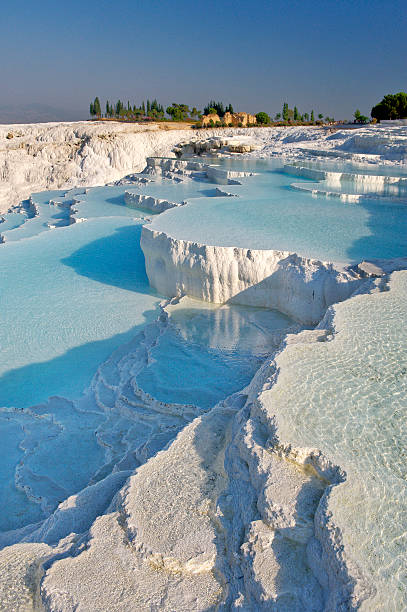 Travertine terrace formations at Pamukkale