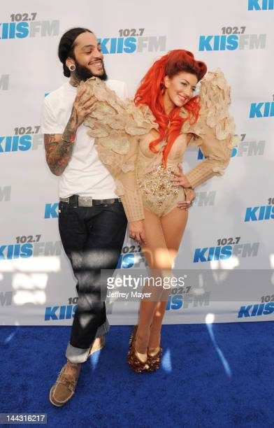Travie McCoy of Gym Class Heroes and Neon Hitch attend 102.7 KIIS FM's Wango Tango at The Home Depot Center on May 12, 2012 in Carson, California.