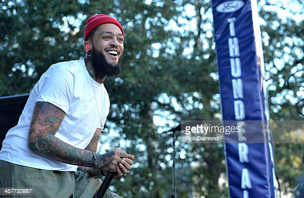"""Travie McCoy performs at 933 FLZ's Jingle Ball """"PreShow Free Show"""" on the Plaza 933 FLZ's Jingle Ball 2013 official preshow at the Tampa Bay Times..."""