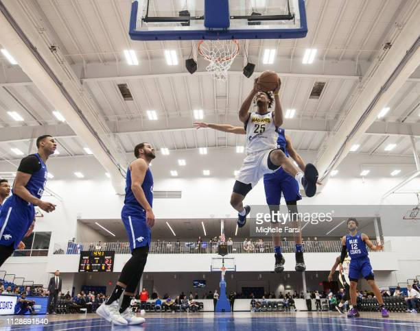 TravinThibodeaux of the Fort Wayne Mad Ants shoots against Delaware Blue Coats during an NBA GLeague game on March 4 2019 at 76ers Fieldhouse in...