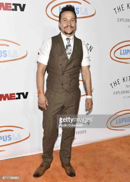 Travis Aaron Wade attends Lupus LA's 2017 Orange Ball Rocket To A Cure at California Science Center on April 22 2017 in Los Angeles California