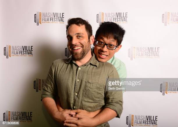 Travis Ashkendsy and Stanley Wong of the film Hand Fart attend the 2017 Nashville Film Festival on April 20 2017 in Nashville Tennessee