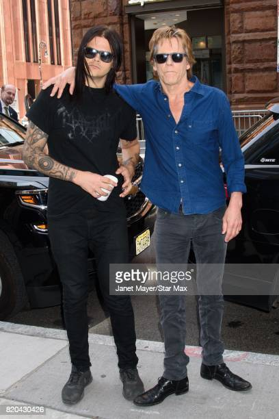 Travis Bacon and actor Kevin Bacon are seen on July 21, 2017 in New York City.