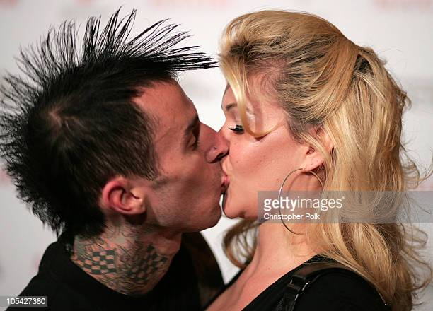 Travis Barker and Shanna Moakler during Maxim Magazine's Hot 100 Arrivals at Montmartre Lounge in Hollywood California United States