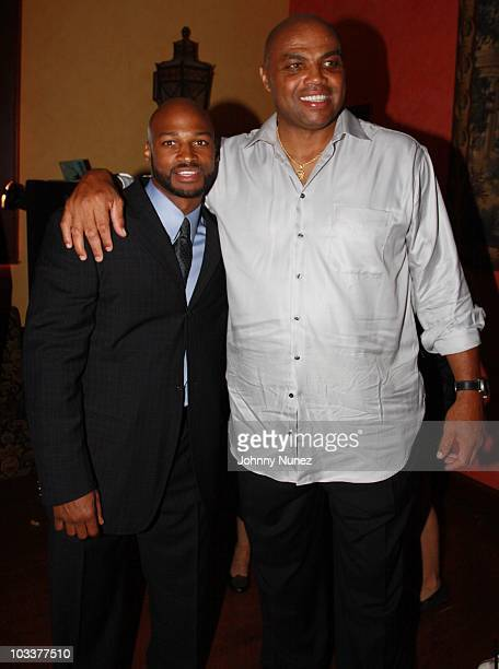 Travis Best and Charles Barkley attend Best in the City 2 at Pazzo Ristorante on August 13 2010 in Springfield Massachusetts