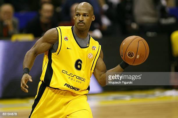Travis Best of Prokom Trefl Sopot during the Euroleague Basketball season opening match Game 1 between Prokom Trefl Sopot and CSKA Moscow at the...