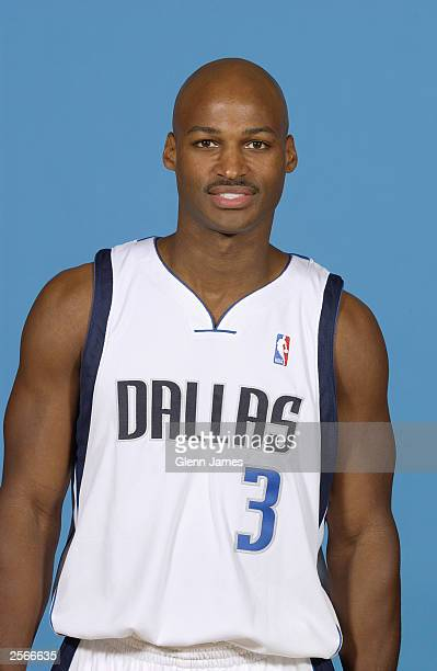 Travis Best of the Dallas Mavericks poses for a portrait during the NBA Media Day at American Airlines Arena on September 30 2003 in Dallas Texas...