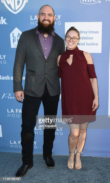 Travis Browne and Ronda Rousey attends LA Family Housing Annual LAFH Awards And Fundraiser Celebration at The Lot on April 25 2019 in West Hollywood...