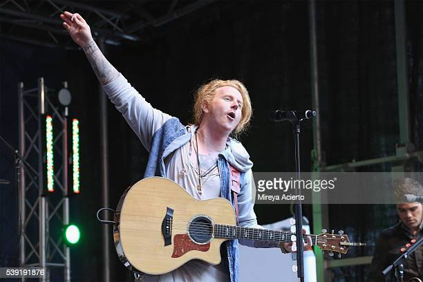 Travis Clark of We The Kings performs during 'FOX Friends' All American Concert Series outside of FOX Studios on June 10 2016 in New York City